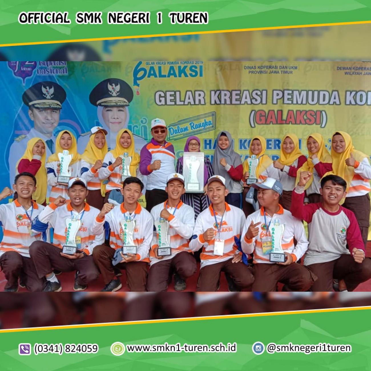 Tim Kopsis SMK Negeri 1 TUREN Meraih JUARA UMUM dan 8 TROPY pada ajang GALAKSI 2019 Tingkat Provinsi Jawa Timur