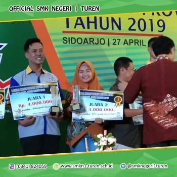 Amanda Natasya Putri Meraih Juara 2 LKS Bilingual Secretary 2019 Tingkat Provinsi Jawa Timur